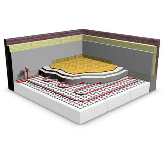 Projects water-underfloor-heating